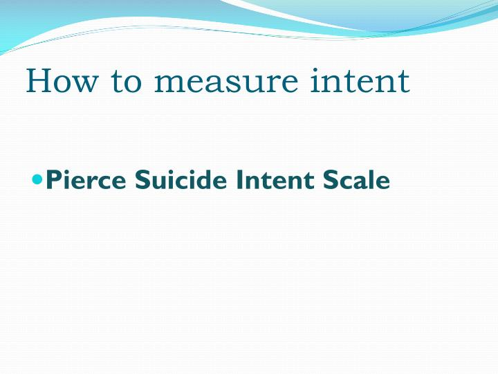 How to measure intent