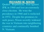 richard m nixon