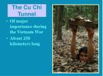 the cu chi tunnel