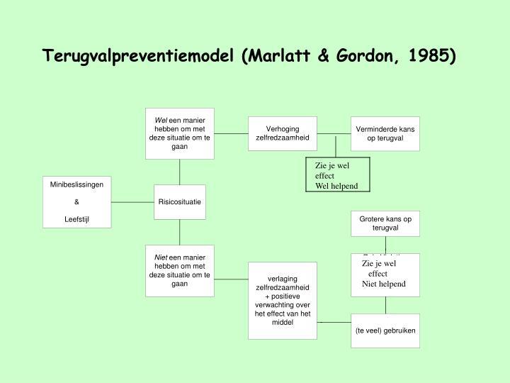 Terugvalpreventiemodel (Marlatt & Gordon, 1985)