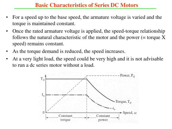 Basic Characteristics of Series DC Motors