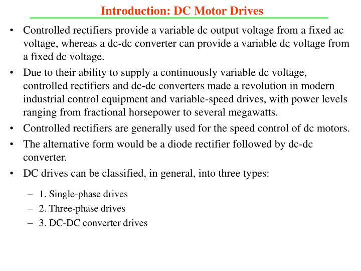Introduction dc motor drives1