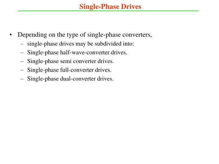 Single-Phase Drives