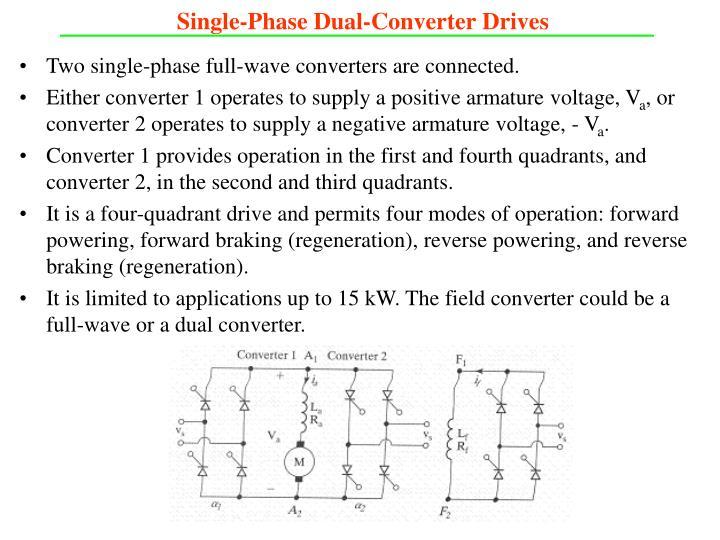 Single-Phase Dual-Converter Drives