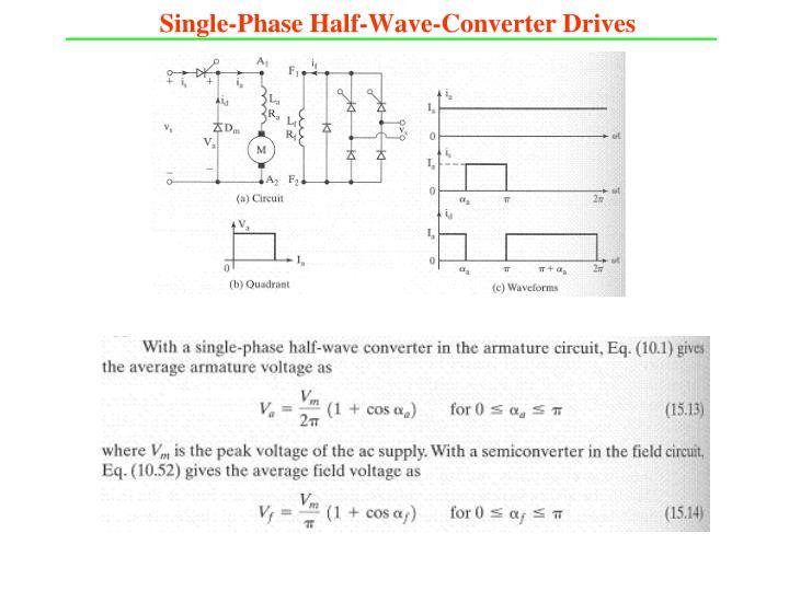 Single-Phase Half-Wave-Converter Drives