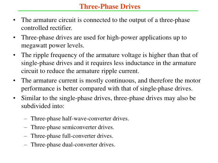 Three-Phase Drives