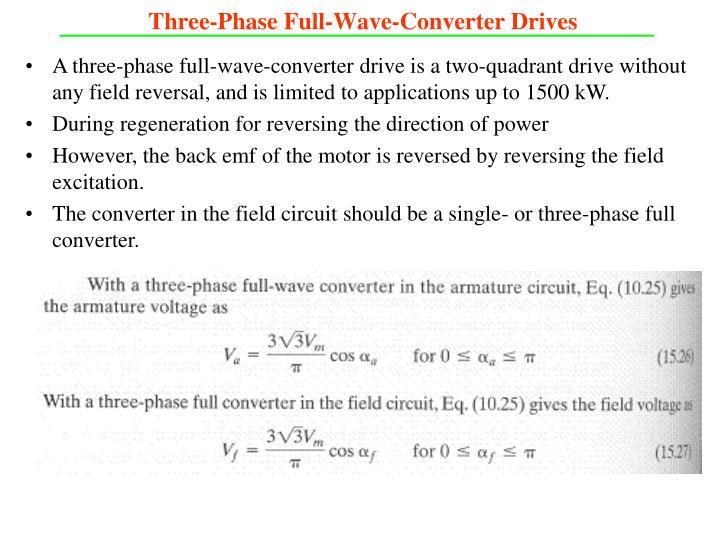 Three-Phase Full-Wave-Converter Drives