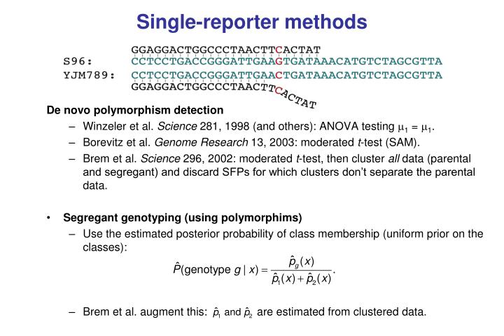 Single-reporter methods