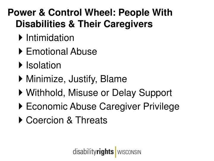 Power & Control Wheel: People With Disabilities & Their Caregivers