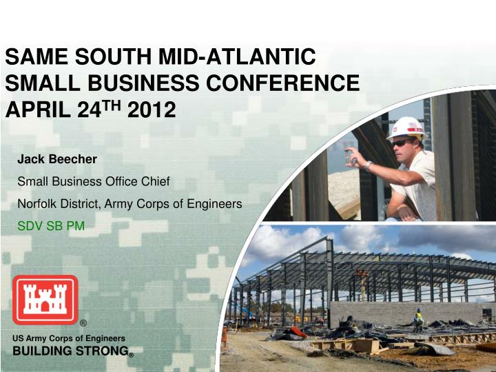 same south mid atlantic small business conference april 24 th 2012 n.
