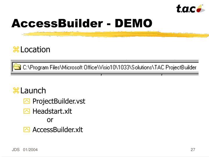 AccessBuilder - DEMO