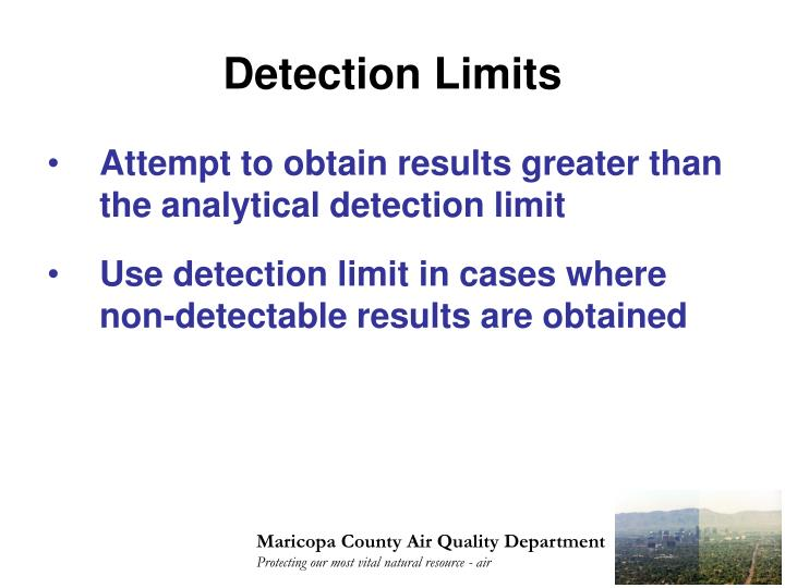 Detection Limits