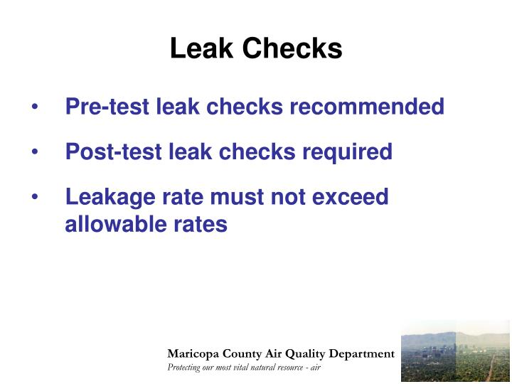 Leak Checks