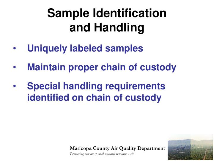 Sample Identification