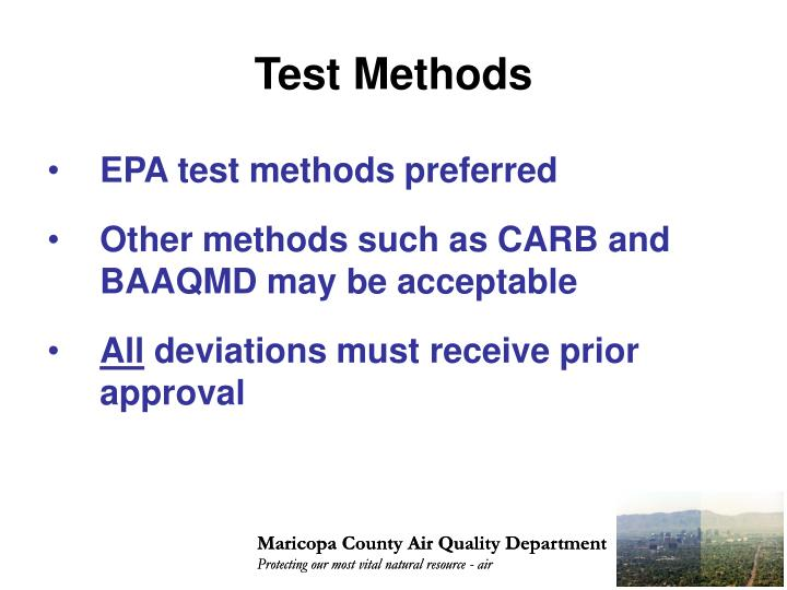 Test methods