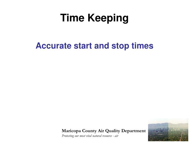 Time Keeping