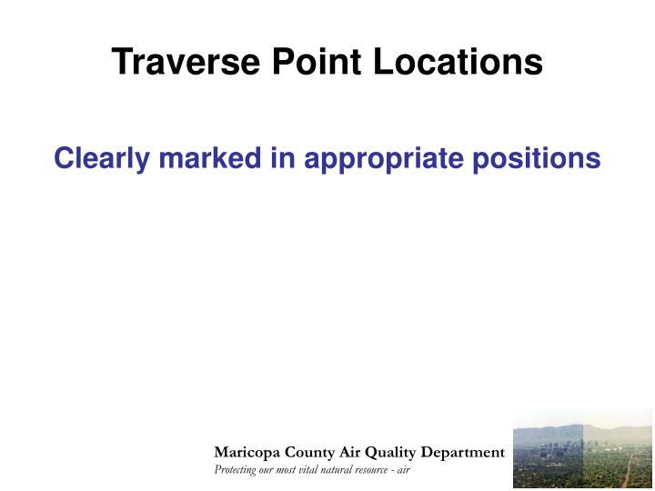Traverse Point Locations