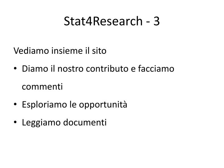 Stat4Research - 3