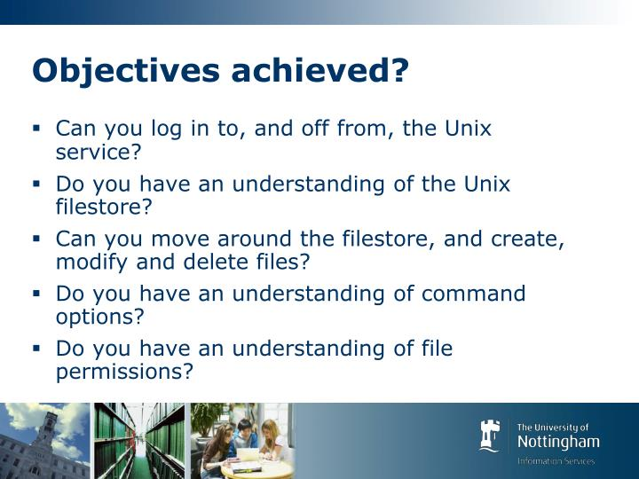 Objectives achieved?