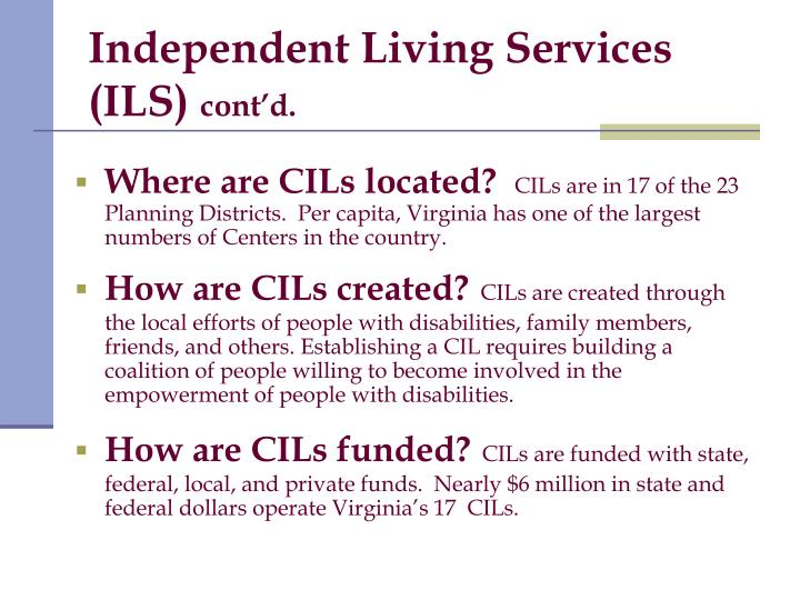 Independent Living Services (ILS)