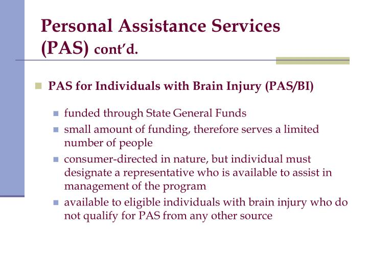 Personal Assistance Services