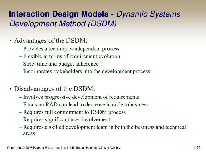 advantages of dsdm