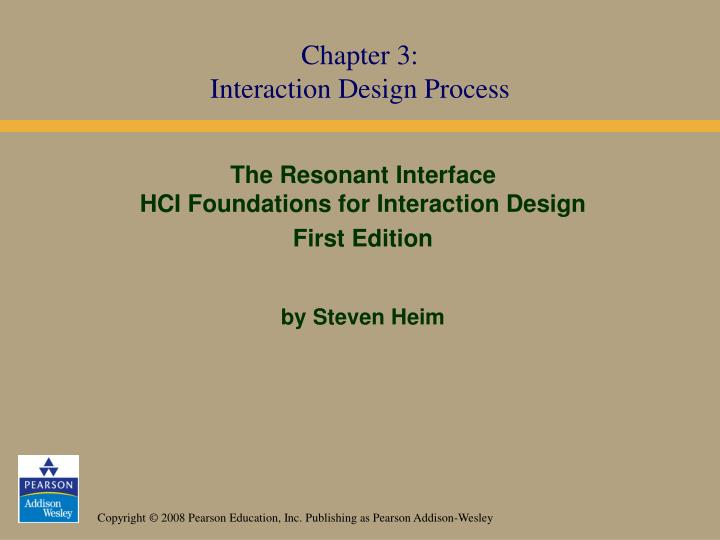 the resonant interface hci foundations for interaction design first edition by steven heim n.