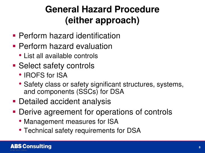 General Hazard Procedure