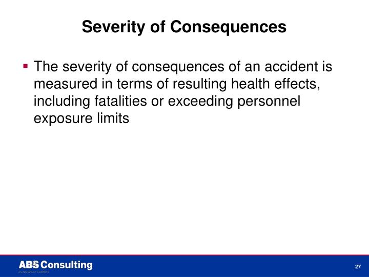 Severity of Consequences