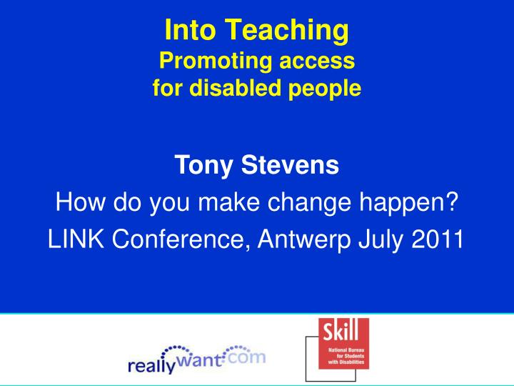 into teaching promoting access for disabled people n.