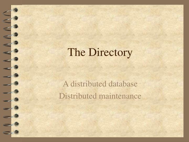 the directory n.
