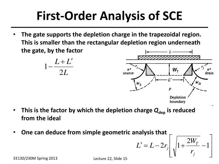 First-Order Analysis of SCE