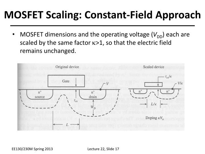 MOSFET Scaling: Constant-Field Approach