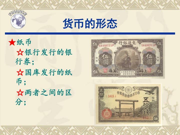 货币的形态