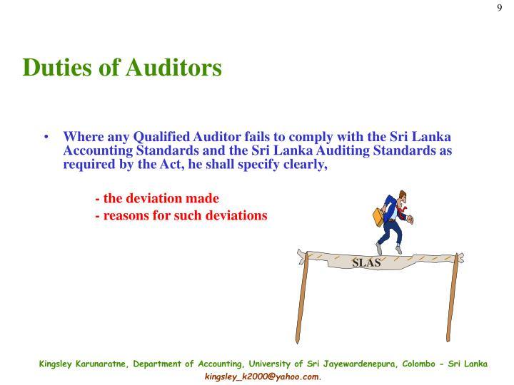 Duties of Auditors
