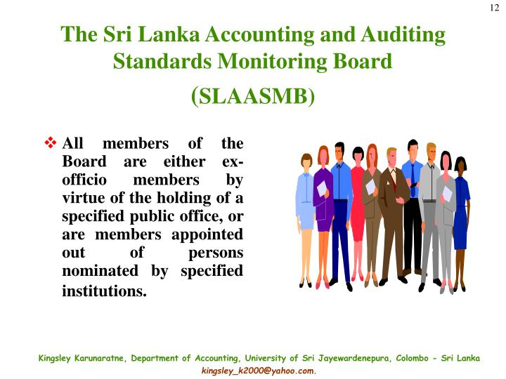The Sri Lanka Accounting and Auditing Standards Monitoring Board