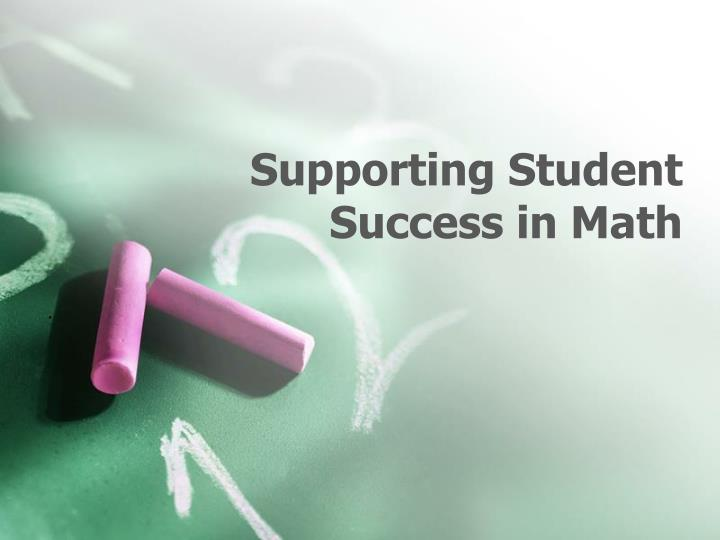supporting student success in math n.
