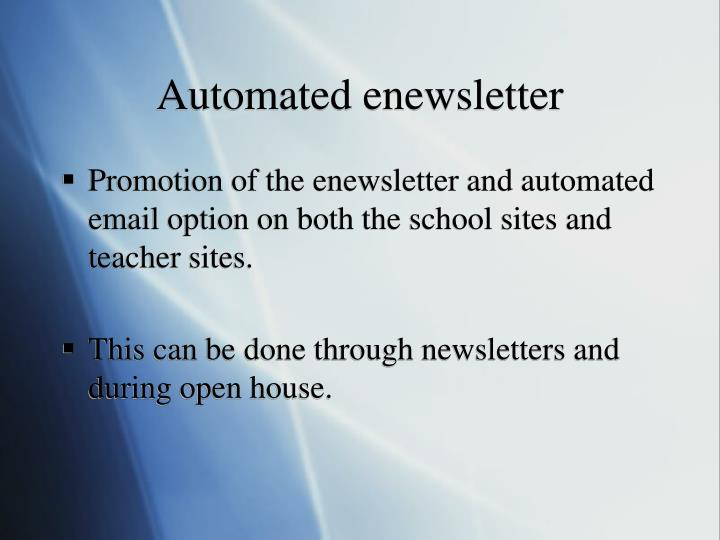 Automated enewsletter