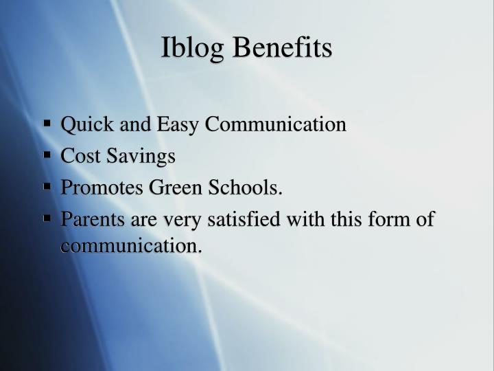 Iblog Benefits