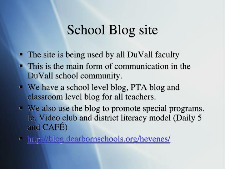 School Blog site