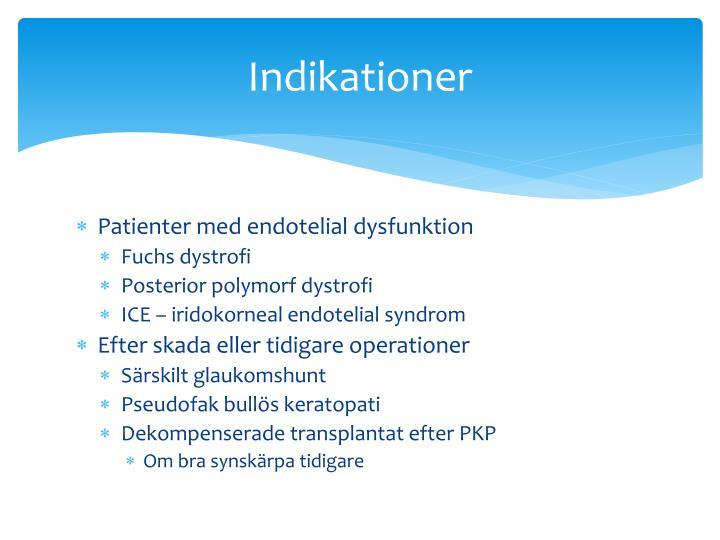 Indikationer