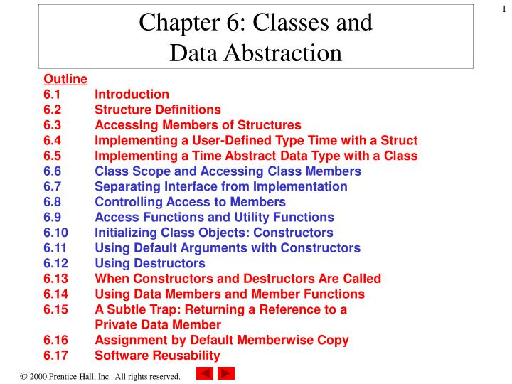 chapter 6 classes and data abstraction