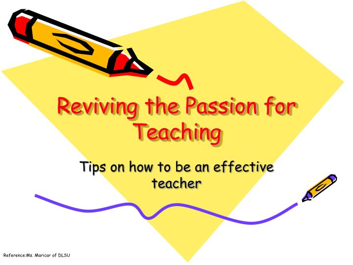 reviving the passion for teaching n.