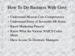 how to do business with govt