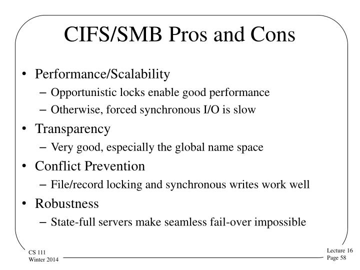 CIFS/SMB Pros and Cons