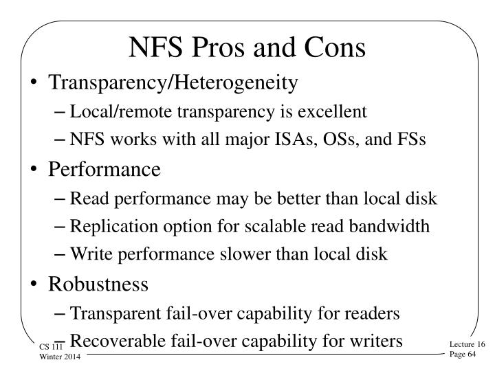 NFS Pros and Cons