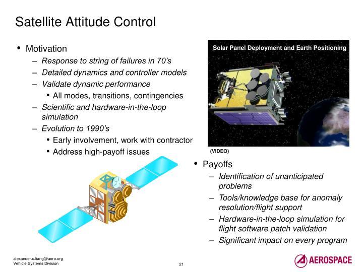 Satellite Attitude Control
