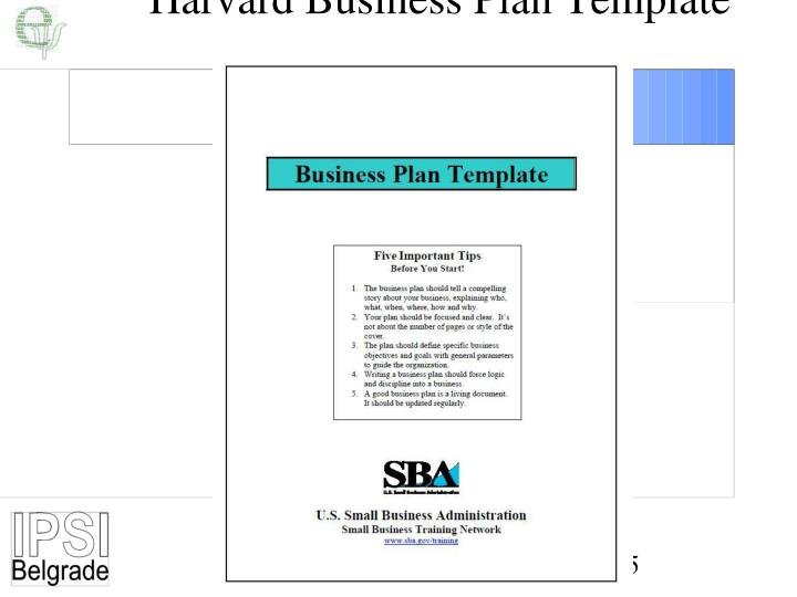 Harvard Business Plan Template