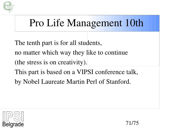 Pro Life Management 10th