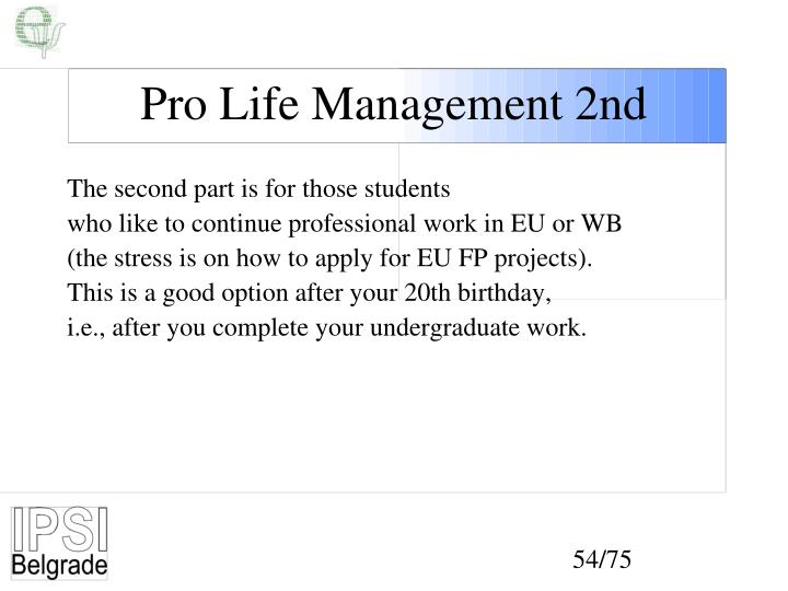 Pro Life Management 2nd